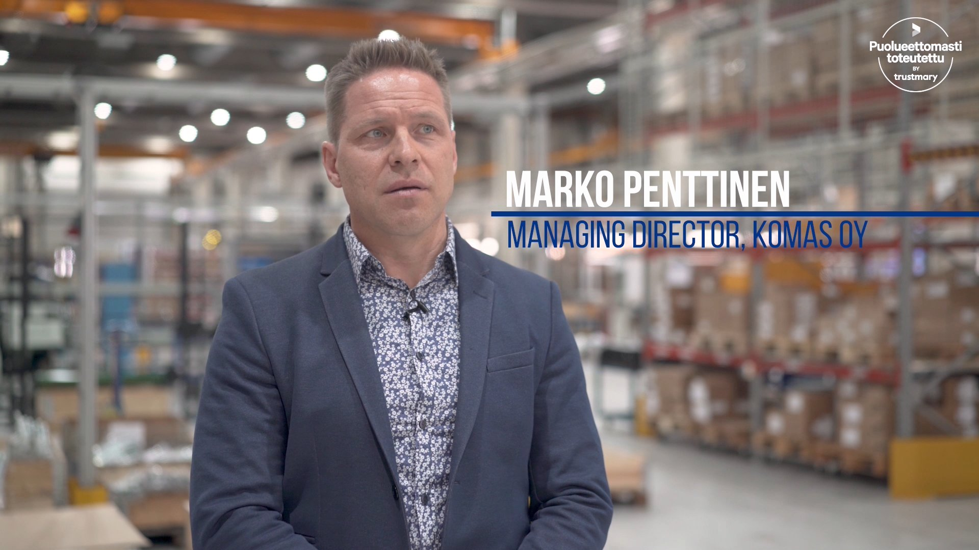 Marko Penttinen, CEO, Komas